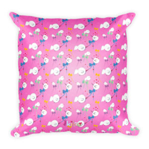 AboutKika Birds – Allover Pink – Square Pillow