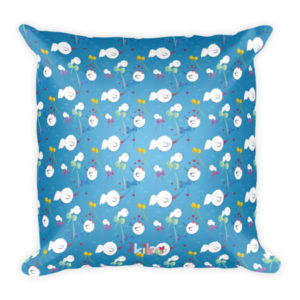 AboutKika Birds – Allover Blue – Square Pillow