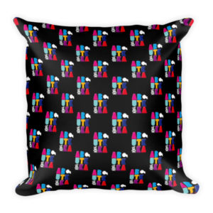 AboutKika Blockletters – Black – Square Pillow