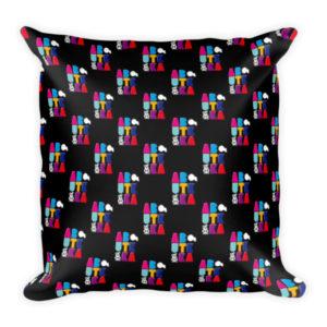 AboutKika Blockletters – Black – Square Pillow