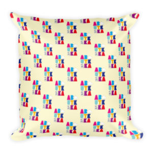 AboutKika Blokletters – Cream – Square Pillow