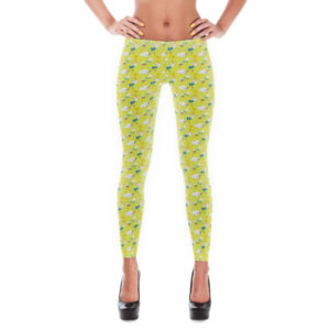 Leggings – Birds Yellow