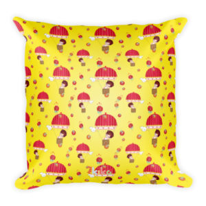 AboutKika Balloon Girl – Yellow – Square Pillow
